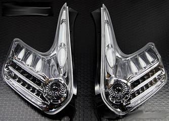 Фонари Nissan Juke тюнинг Led оптика (хром)