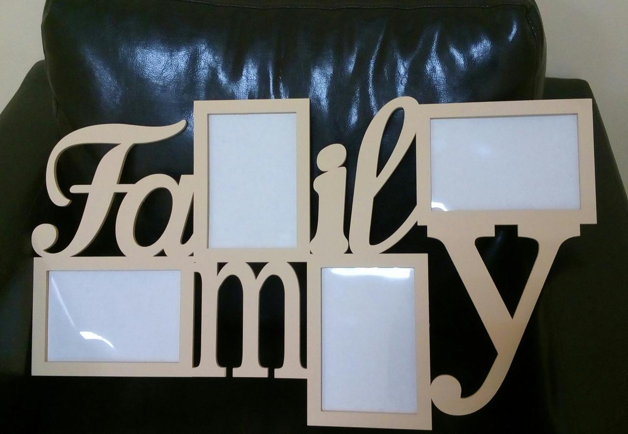 "Фоторамка ""Family"" в интерьер дома"