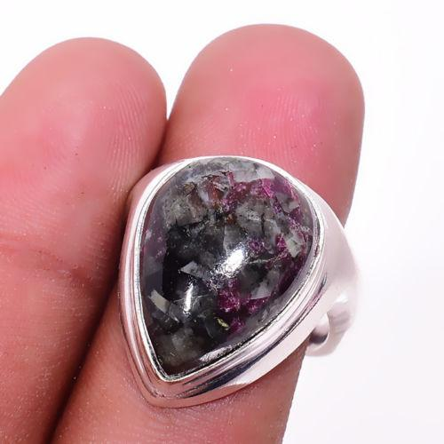 Эвдиалит кольцо с натуральным эвдиалитом в серебре 19.2 размер Индия