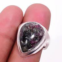 Эвдиалит кольцо с натуральным эвдиалитом в серебре 19.2 размер Индия, фото 1