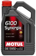 Моторное масло полусинтетика 15W50 Motul 6100 Synergie SAE 15W-50 (4л)