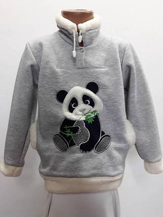 Теплый батник панда с меховой опушкой, фото 2