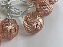 Гирлянда ажурная декоративная Vipolimex Azoure Copper / Silver длина 1,8 метра теплый Warm, фото 4
