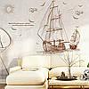 """Интерьерная виниловая наклейка на стену """"Корабль"""""""