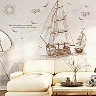 """Интерьерная виниловая наклейка на стену """"Корабль"""", фото 1"""