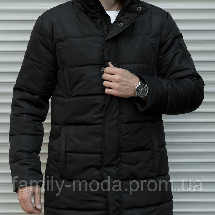 7993dca6279 Зимняя куртка-пальто с отстёгивающимся капюшоном мужская