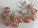 Гирлянда ажурная декоративная Vipolimex Pink Gold/Copper длина 1,8 метра теплый золотой Warm Gold, фото 7