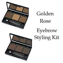Тени для бровей Golden Rose Eyebrow Styling Kit (набор для коррекции)