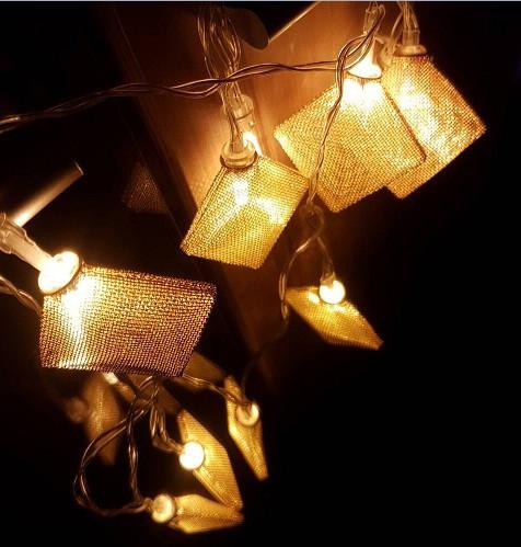 Гирлянда ажурная декоративная Vipolimex Quard Gold/Silver/Copper длина 1,8 метра теплый Warm