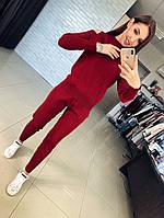 Осень 2018! Стильный, женский костюм из плотного трикотажа: штаны и джемпер с вырезами на плечах РАЗНЫЕ ЦВЕТА