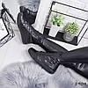Ботинки женские Henry демисезонные черные натуральная кожа + двусхторонние пайетки )), фото 3