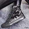 Ботинки женские Henry демисезонные черные натуральная кожа + двусхторонние пайетки )), фото 7