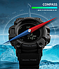 Skmei  1358  processor черные мужские часы  с шагомером и барометром - Фото