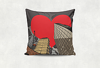 Подушка декоративная с принтом Сити