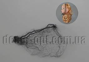 Чорна сіточка для волосся ляльки