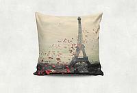 Подушка декоративная с принтом Париж