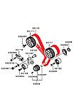 Ремень ГРМ оригинал V73W V93W  Mitsubishi Pajero Wagon 3.0  Паджеро Вагон