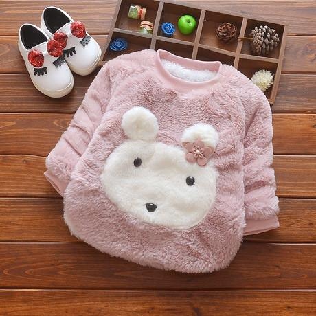 Кофта детская теплая на девочку на меху осень-зима