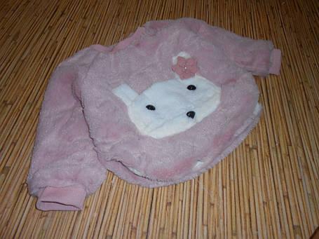 Кофта детская теплая на девочку на меху осень-зима, фото 2
