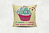Подушка декоративна з принтом Кораблик