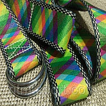 Ремень для йоги (цветной узор спектр), фото 2