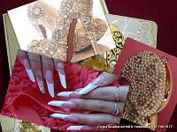Наращивание ногтей акрил, под лак