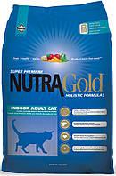 Nutra Gold Indoor Adult Hairball сухой корм для домашних кошек, 18.14 кг