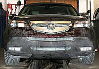 Декоративно-защитная сетка радиатора Acura MDX фальшрадиаторная решетка, бампер, фото 1