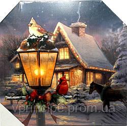 "Картина-постер 3D 40х40 ""Зимний дворик"" с Led"