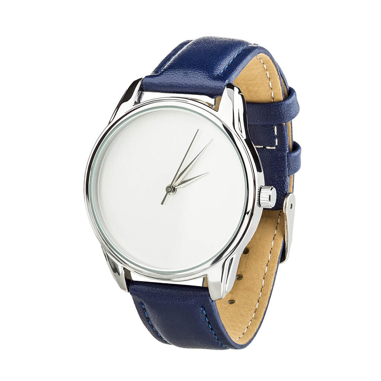 """Часы """"Минимализм"""" (ремешок ночная синь, серебро) + дополнительный ремешок"""