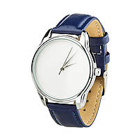 """Часы """"Минимализм"""" (ремешок ночная синь, серебро) + дополнительный ремешок, фото 1"""