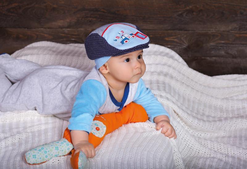 Детская шапка для мальчиков МЕННИ оптом размер 42-44-46