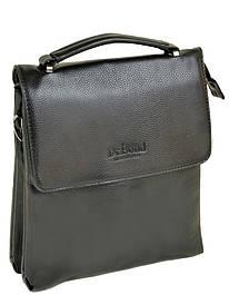 Мужская сумка через плечо черная иск-кожа DR. BOND 217-4 black