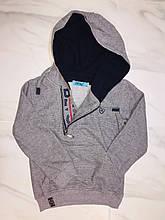 Детская толстовка с капюшоном Cold&Steel, серый