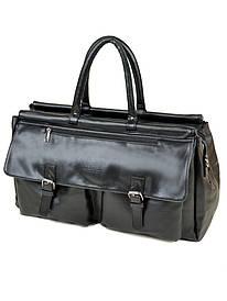 Мужская сумка дорожная черная иск-кожа DR. BOND 8712 black