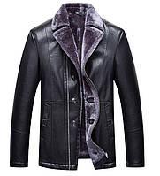 Дубленка мужская,куртка зимняя с натуральной кожи и овчины.