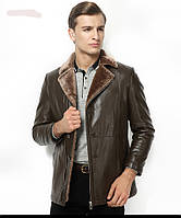 Куртка,дубленка зимняя на овчине с натуральной кожи.