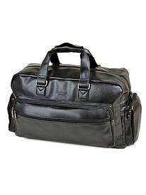 Мужская сумка дорожная черная иск-кожа DR. BOND 8711 black