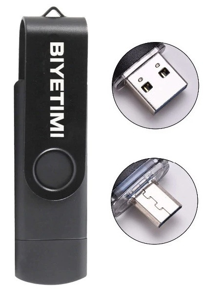 Новый USB флеш накопитель 32Gb с MicroUSB Black
