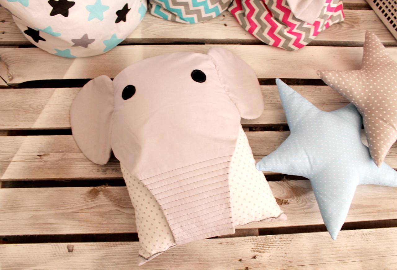 """Дитяча подушка іграшка """"Слоненя"""" (40*40см)"""