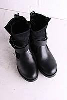 Ботинки женские натуральная кожа-замша зима