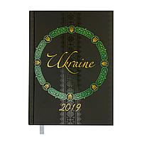 Ежедневник датированный 2019 UKRAINE, A5, зеленый 2128-04 , фото 1