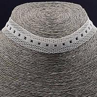 Чокер серый плетеный из ткани 30 см. 038488