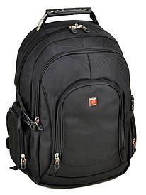Большой городской рюкзак с жесткой спинкой нейлон Power In Eavas 3885 black