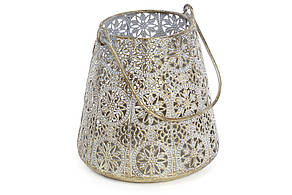 Декоративний металевий свічник 15.5 см (589-130)