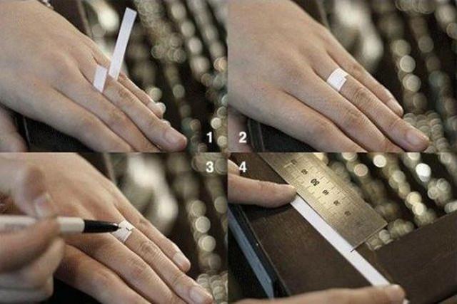 Определение размера кольца в домашних условиях с помощью полоски бумаги