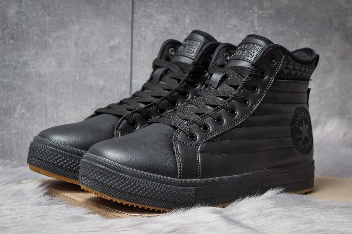 Зимние ботинки на меху Converse Waterproof, черные (30491),  [  41 42 43 44 45  ]