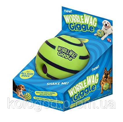 Игрушка Для Собак Хихикающий Мяч Wobble Wag Giggle Мячик