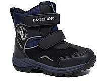 Термоботинки B&G-Termo арт.R181-605N, черный-синий, 25, 16.0