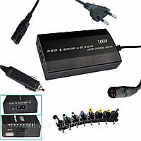 Универсальное зарядное устройство для ноутбука 220 и 12 (12-24V 100W) 8 разъемов сеть и авто